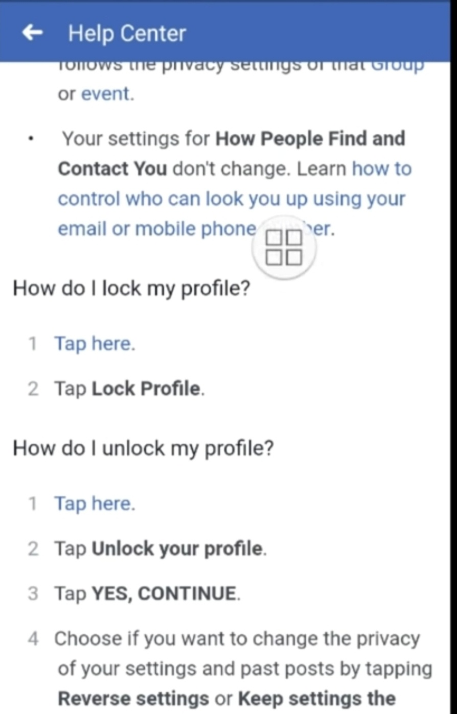 How do locked profiles work on Facebook