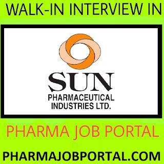 SUN PHARMA LTD Walk In Interview for Multiple Positions at 2 September