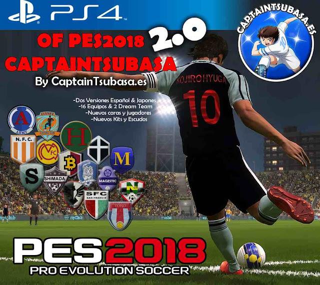 Ultigamerz: PES 2018 [PS4] Captain Tsubasa Option File V2.0