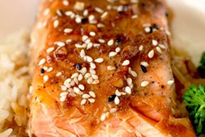 Oven Baked Salmon with Honey Ginger Glaze