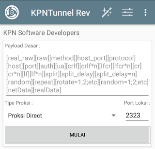 Tampilan kpn tunnel revolution
