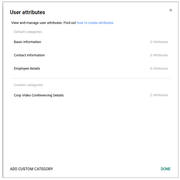 Create custom user attributes in the Admin console