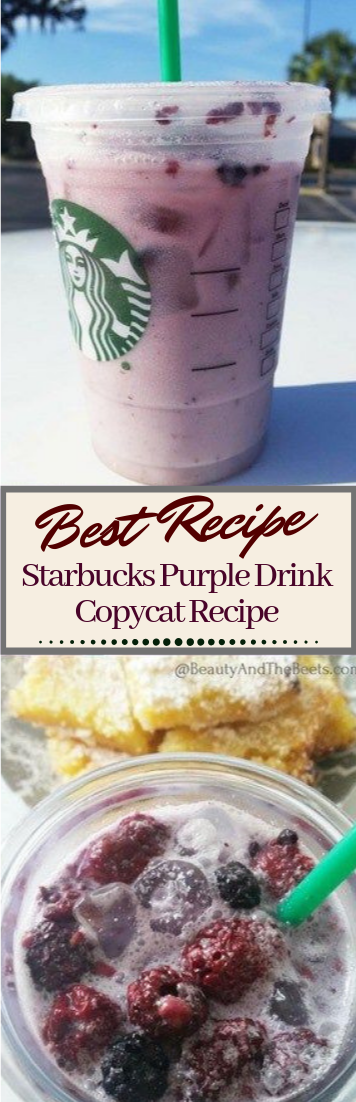 Starbucks Purple Drink Copycat Recipe  #healthydrink #easyrecipe #cocktail #smoothie