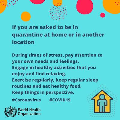 How to survive quarantine The World Health Organisation