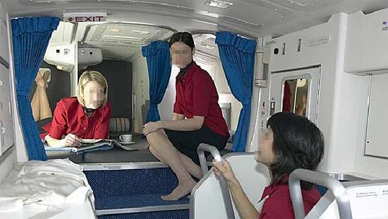 Compartimento secreto exclusivo tripulação aviões 1