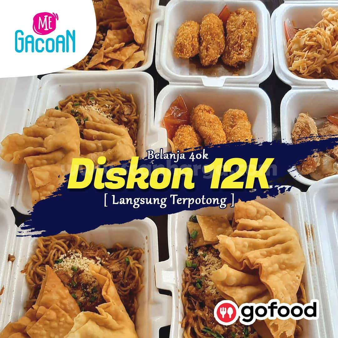 Promo Mie Gacoan Diskon Rp 12.000 khusus pesan via GOFOOD