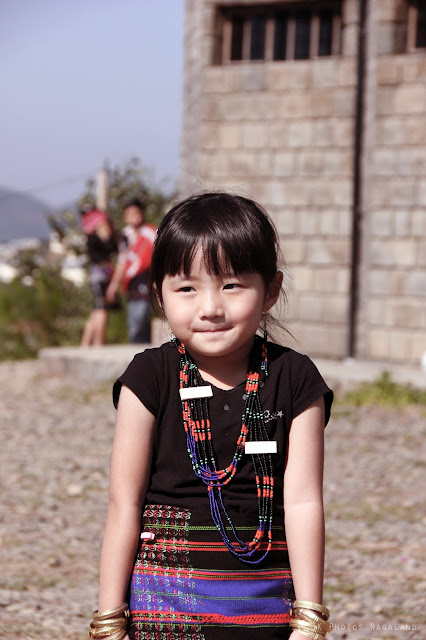 Lotha Tokhu Emong Photos Girl in traditional dress