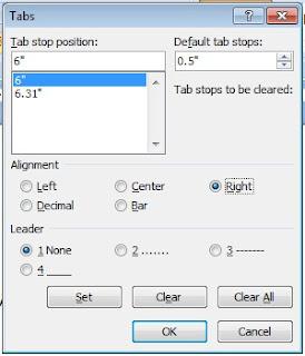 Cara membuat titik-titik di Microsoft Word