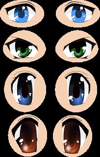 Free Anime eyes SVG download