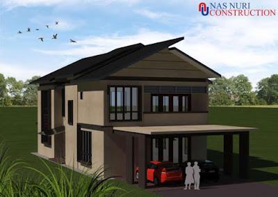 Gambar 3d rumah banglo 2 tingkat weekend house