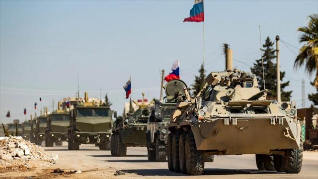 EEUU bloquea paso de convoy militar ruso en el noreste sirio