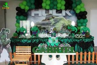 Decoração de aniversário incrível Hulk