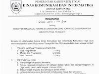Rekrutmen Tenaga Ahli Non PNS Dinas Kominfo Kabupaten Tegal
