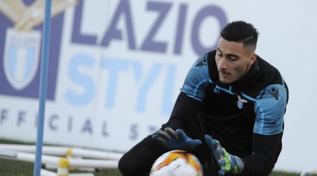 Thomas Strakosha suffered an injury during Lazio training