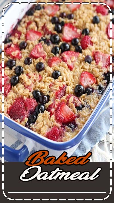 This easy baked oatmeal is the perfect make-ahead breakfast for busy mornings. Bake it in advance and reheat portions as needed. You'll love this delicious and nutritious family-friendly meal!