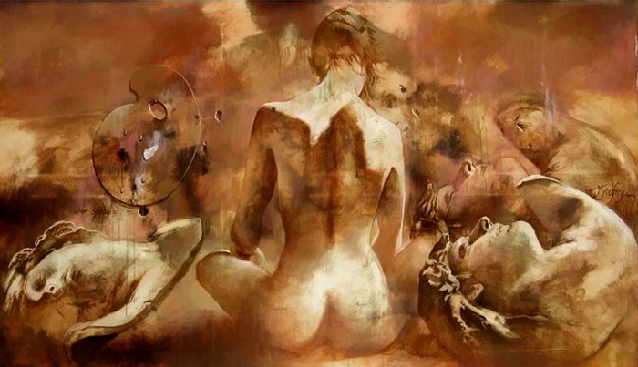 Godfrey Yarek 1957| French Realistic Figurative painter