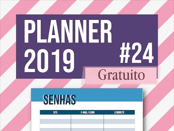 Planner 2019 #24: senhas e logins (gratuito para download)
