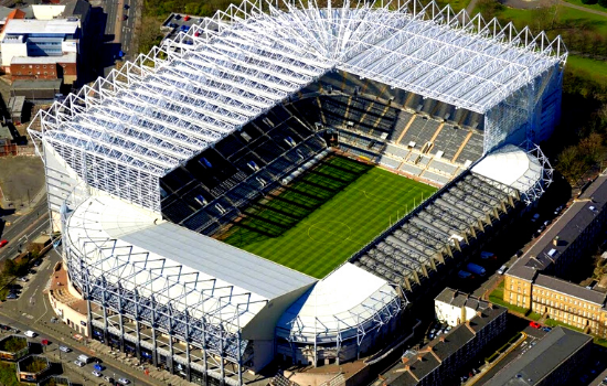 best stadiums in uk St. James' Park