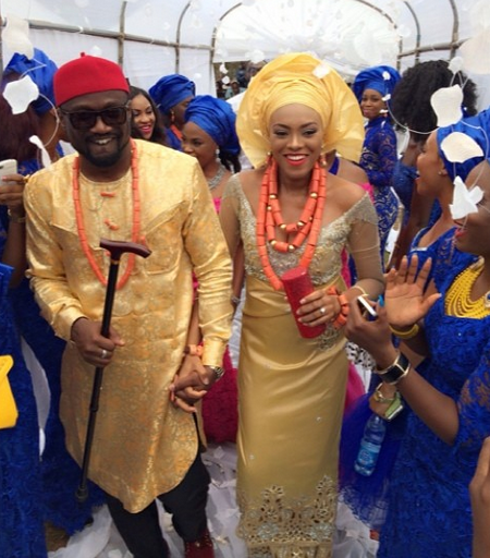 Photo: Here comes the bride and groom - Jude and Ifeoma Okoye