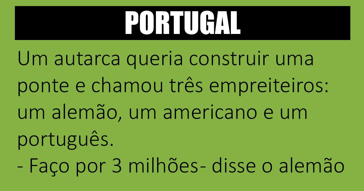 E assim vai Portugal