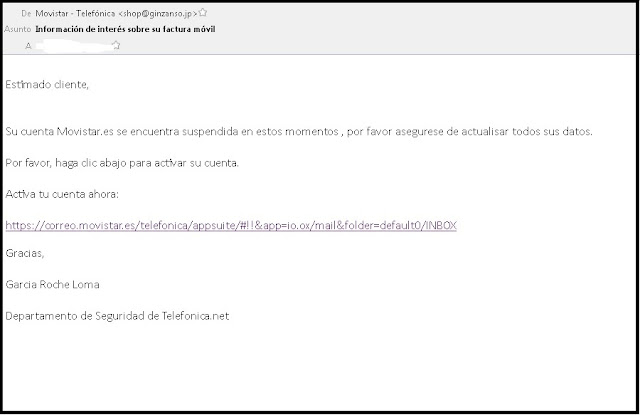Phishing Movistar
