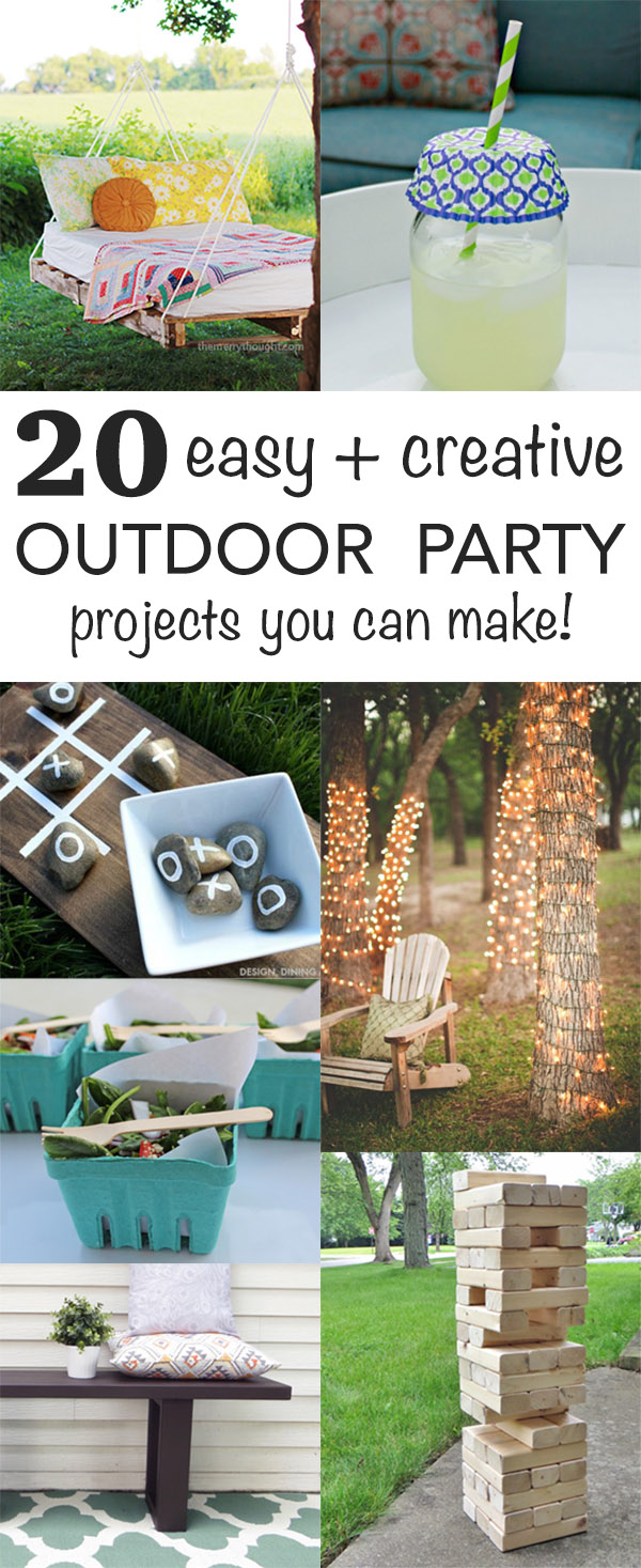 20+ Easy & Creative Outdoor Party Projects - Creative ...