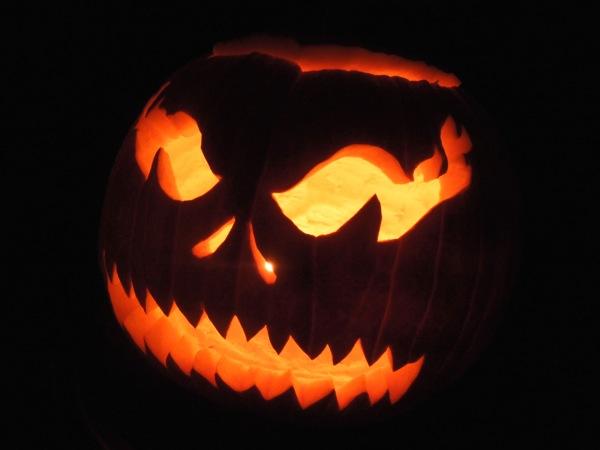 Simple carved Halloween pumpkin