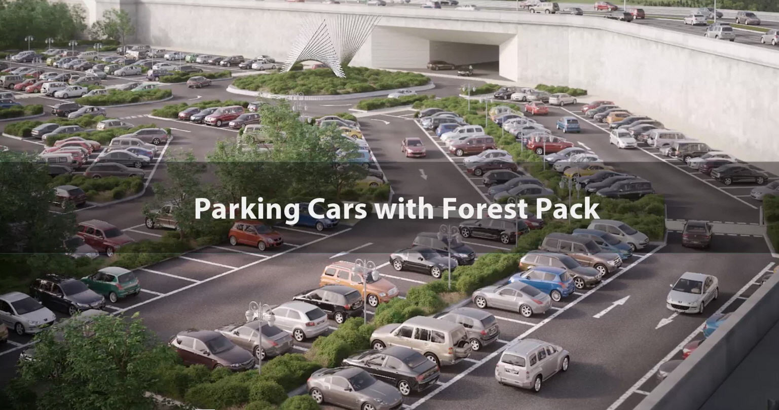 Parking Cars with Forest Pack | CG TUTORIAL