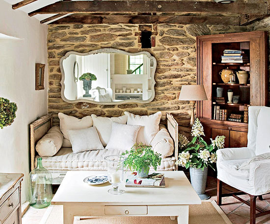 Modern Furniture: 2013 Country Living Room Decorating ...