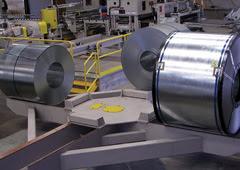 Mesa cargadora de bobinas inoxidable