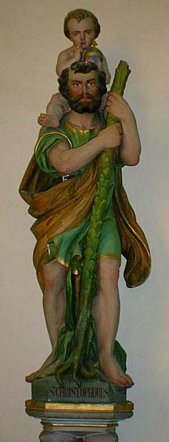 statue de Saint Christophe ©DR