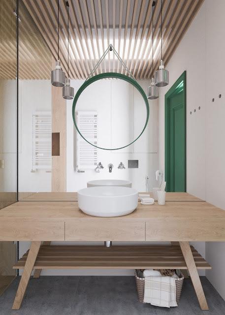 Bathroom Tiles Design With Highlighter