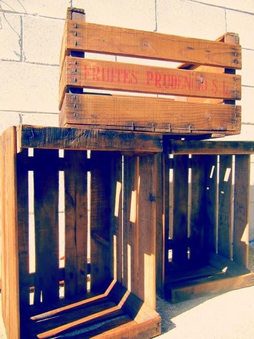 Cajas de madera para fruta
