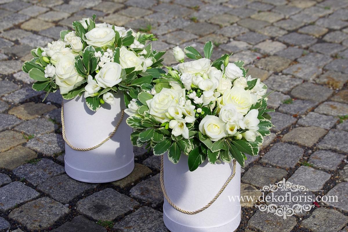 Flowerbox kwiatowe podziękowanie dla Rodziców Młodej Pary