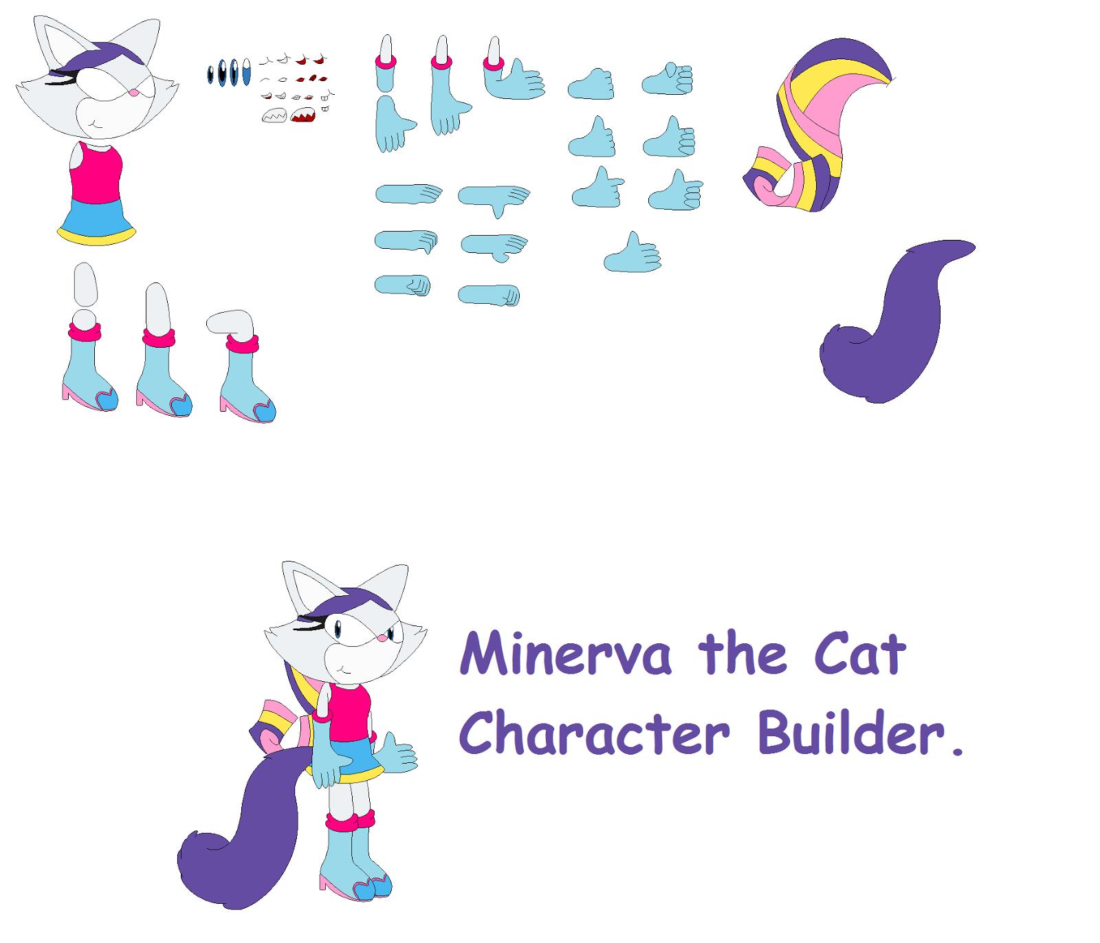 concept art blog minerva the cat character builder