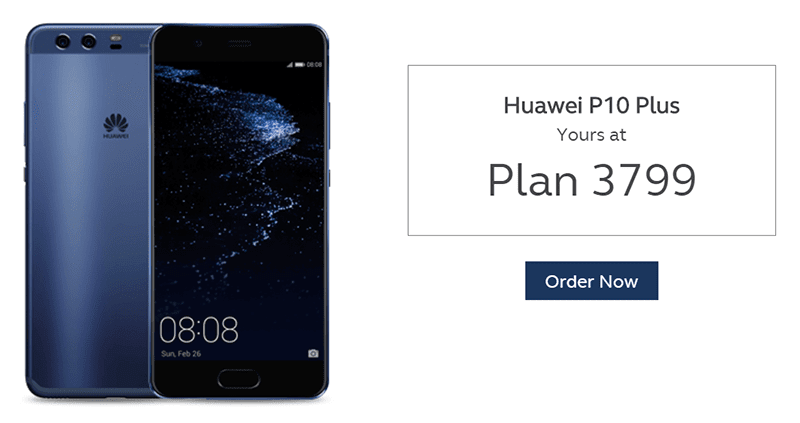 Huawei P10 Plus at ThePLATINUM Plan 3799