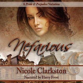 Book cover: Nefarious by Nicole Clarkston, narrated by Harry Frost