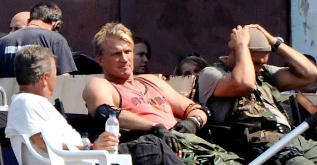 The Expendables 3 Set - Dolph Lundgren si Randy Couture