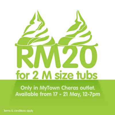 llaollao Malaysia 2 M Size Tubs RM20 MyTOWN Cheras Discount Promo
