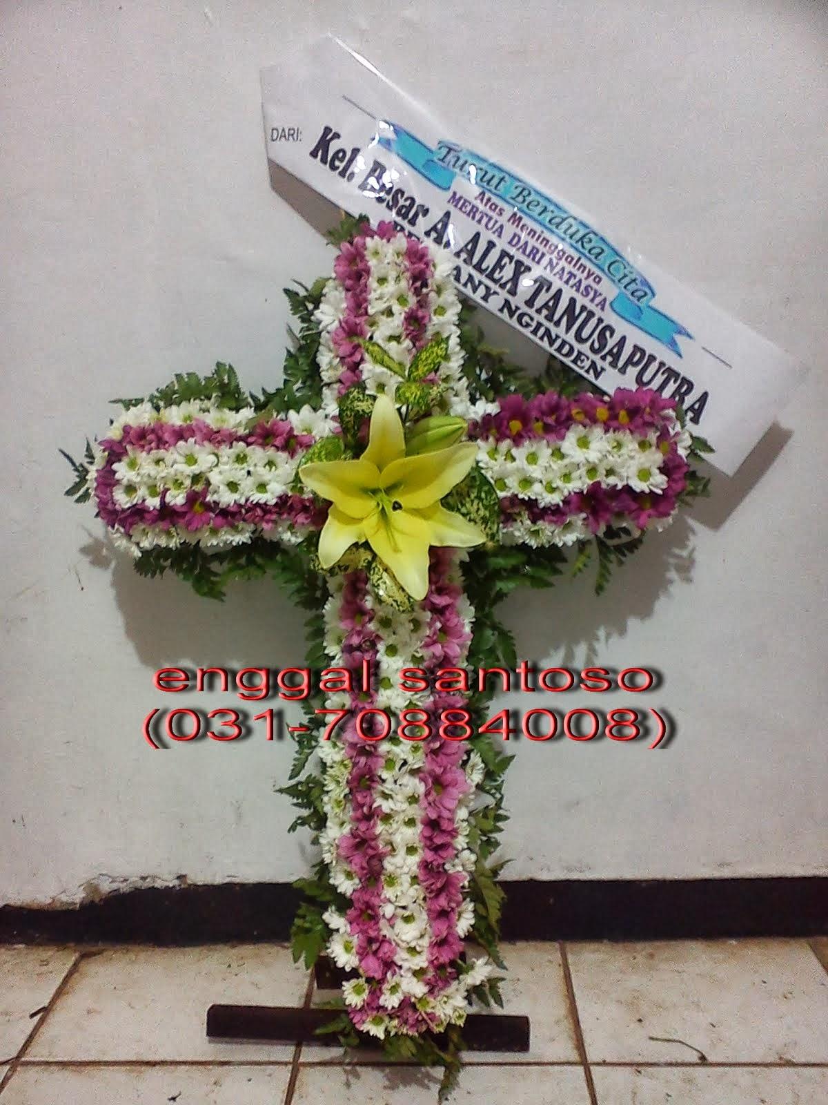 toko bunga sidoarjo 085733331108 bunga salib duka cita