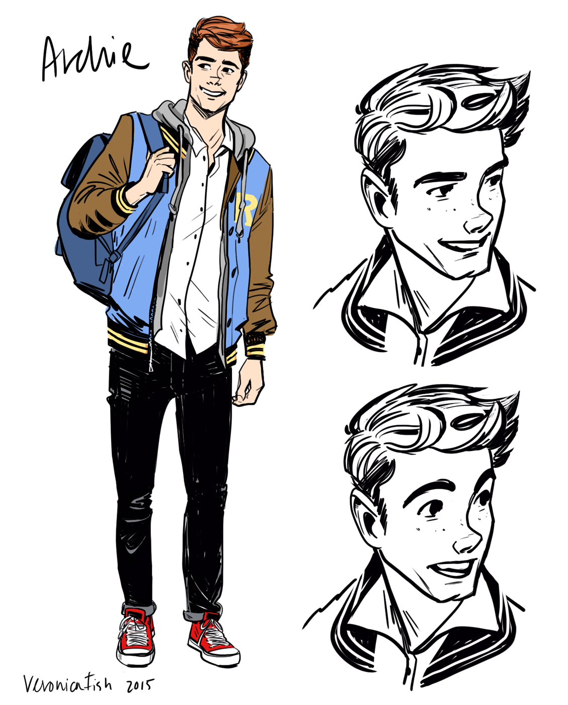 Free Comic Book Day May 2018: Veronica Fish Illustration: Archie & Jughead Concepts For