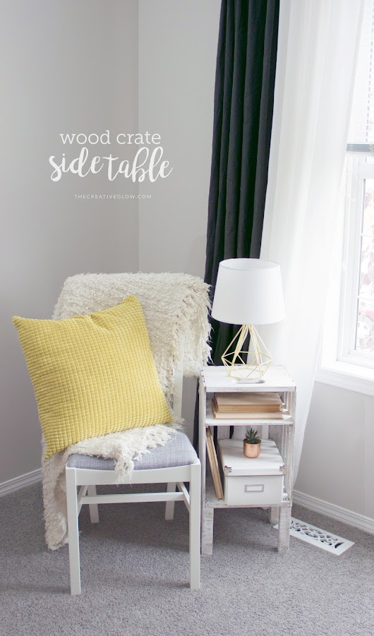 DIY Wood Crate Side Table - Quick, Easy, Inexpensive!