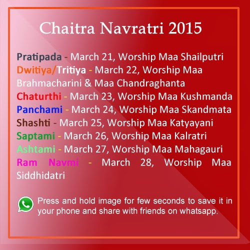 Hindu New Year begins with the beginning of Chaitra Navratri.
