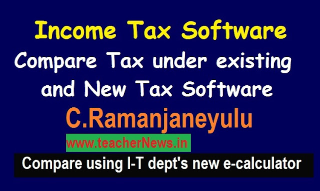 Income Tax Software to compare Tax under existing and new Personal Tax Regime FY 2020-21