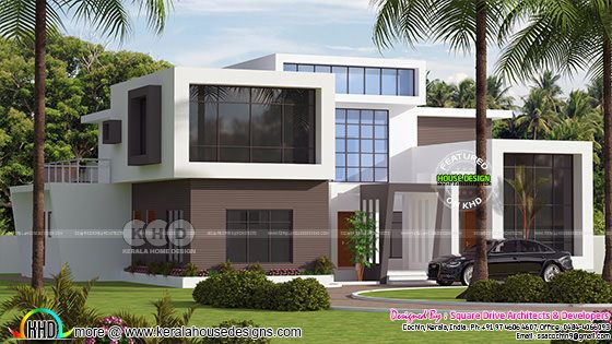 395 sq-m contemporary Kerala home