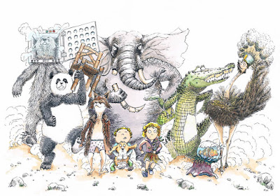 """concours """"réappropriation"""" animaux en colère 'développement durable' illustration jeunesse children"""