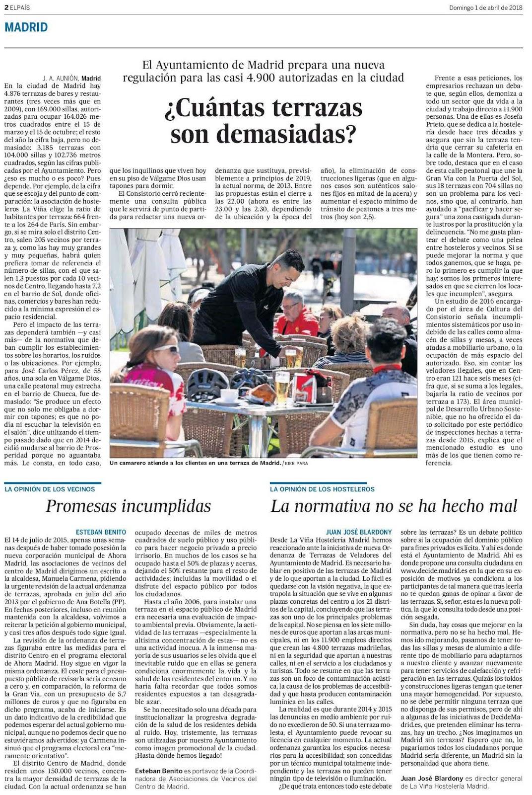 Asociación De Vecinos De Chueca Artículo En El Diario El
