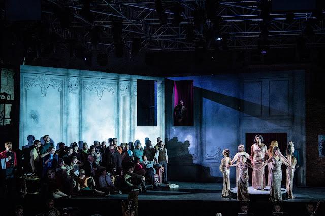 Puccini: Manon Lescaut Act 3 - Elizabeth Llewellyn - Opera Holland Park 2019 (Photo Robert Workman)