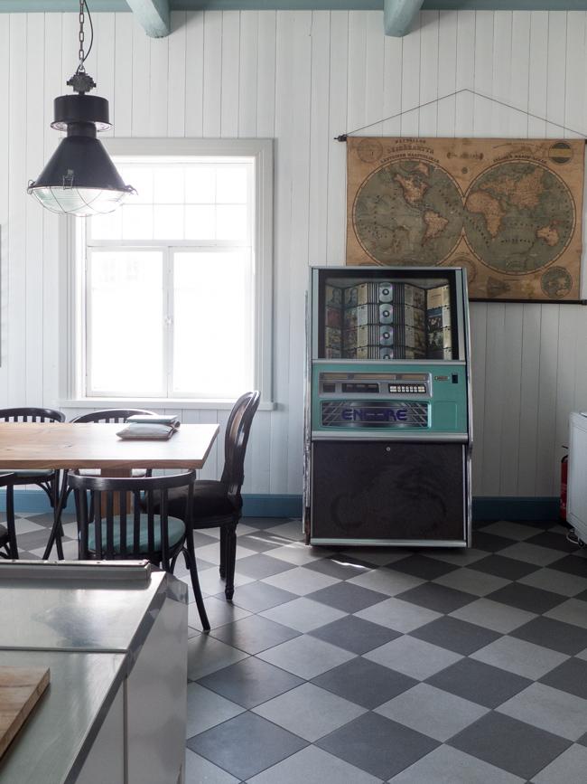 Jukeboxi, rauma, Rouva Manner, keittiö