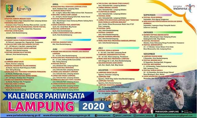 Kalender Event Pariwisata Lampung 2020